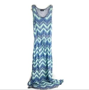 Stitch fix Papermoon zig zag maxi dress blue mint